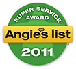 2011 Angie's List Super Service Award Logo