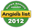 2012 Angie's List Super Service Award Logo