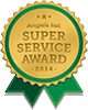 2014 Angie's List Super Service Award Logo